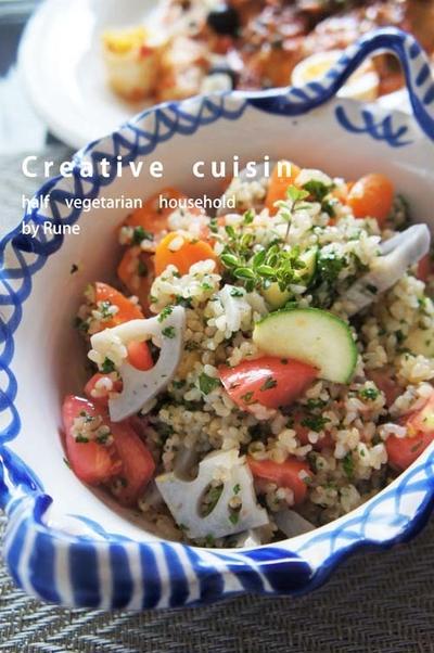Nadiaサイトでグランプリ受賞★『デリ風野菜具だくさん玄米サラダ&玄米の美味しい炊き方』