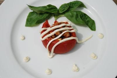 かけるチーズDEトマトのオーブン焼き