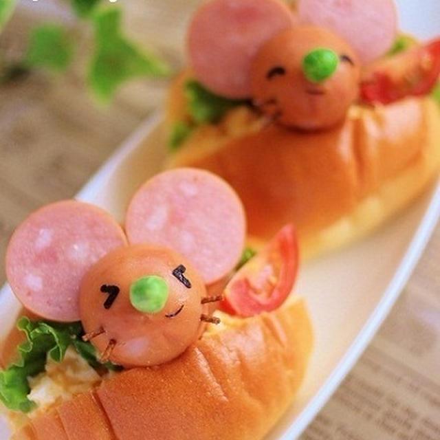 【簡単★作り方も】でっかいネズミ君のお弁当(キャラ弁)&頭痛の話