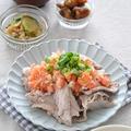 晩ごはん 何にしよう?≪豚肉おかず:豚こまで作る!豚しゃぶのトマトソースがけ≫