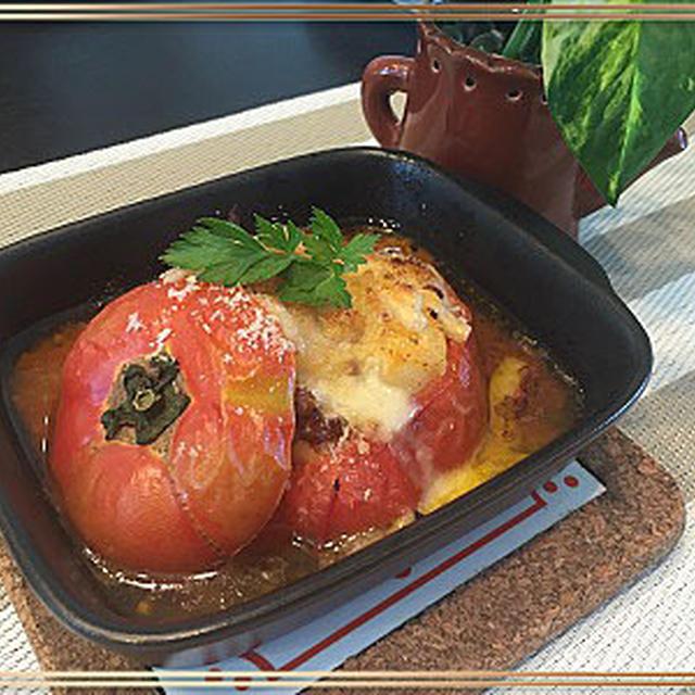 トマトのファルシ―で美味しくランチ~♪