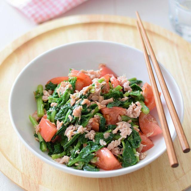【和風おもてなし】のらぼう菜とツナとトマトの和風サラダ♡美味野菜『のらぼう菜』に要注目!