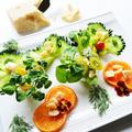 ビタミンカラーの南国避暑地っぽいサラダ  ビジュアルベジタブル と 息子の作が凄かった件 by 青山 金魚さん