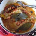 鶏のバスク風赤パプリカ煮込み&残りソースでピラフ