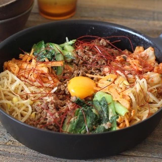 【レシピ】おこげが美味しい♡フライパンビビンバ。