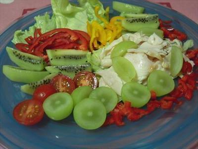 シャインマスカットのフルーツサラダ