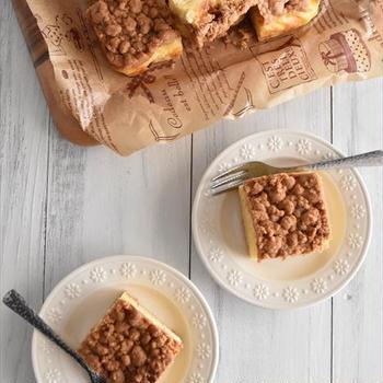 ホットケーキミックスで簡単!サクサク!リンゴのクランブルケーキ