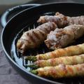 ストウブスチーム&グリルで「牛薄切り肉のたけのこ巻き&豚バラ肉のアスパラ巻き」