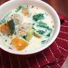 鶏団子入りあったか豆乳スープ