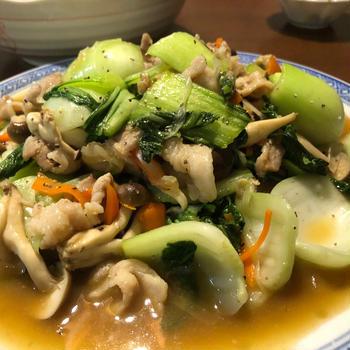 シャキシャキっ♪チンゲン菜と豚肉の中華炒め♪~ぐんまクッキングアンバサダー~