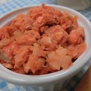 レンジとフライパンで簡単☆ 塩分控えめ仕上げ♪鮭フレーク