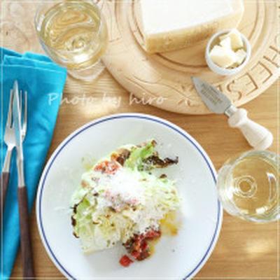 【レシピ】キャベツのオーブン焼き アンチョビトマトソース