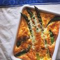 チーズと春野菜のオーブンオムレツ