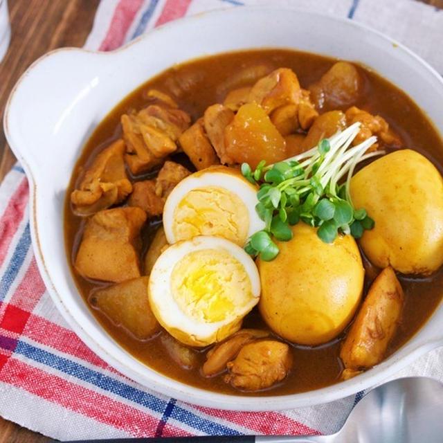 ボリューム満点♪お蕎麦やさんの♪『鶏大根とゆで卵の和風カレー』