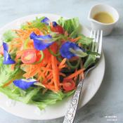 家庭菜園サラダ ビネグレットソース