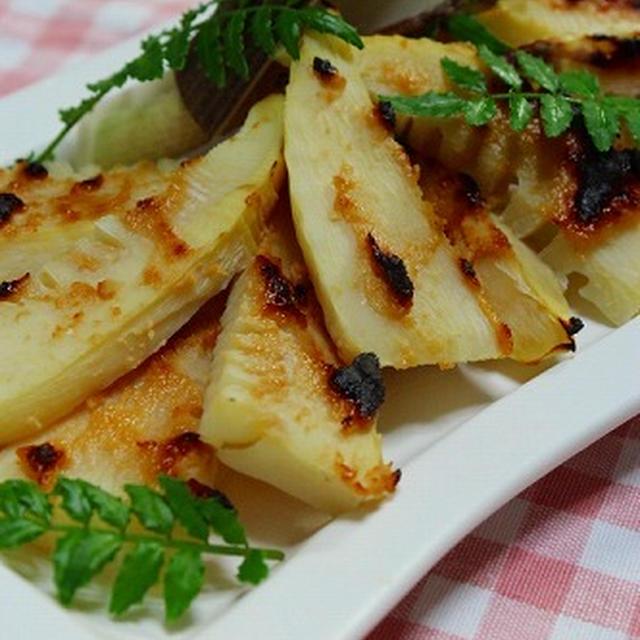 筍のこんがり味噌粕焼き