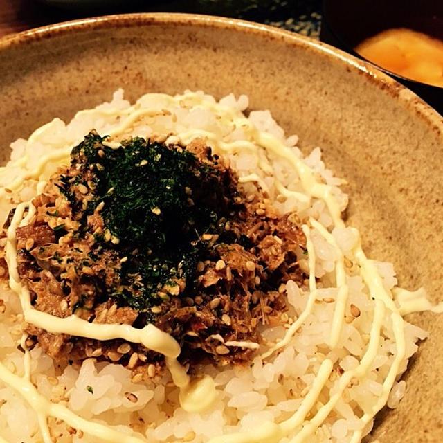 鯖味噌缶で鯖丼♡(*´艸`*)