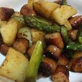 アスパラが美味しいジャーマンポテト