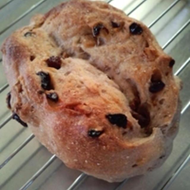 きのうのおつまみ  くるみとレーズンといよかんピールのパン