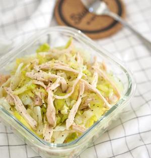 材料4つ♡蒸し鶏の美味しい食べ方♡千切りレタスと蒸し鶏サラダ♡