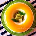 簡単冷んやりスイーツ♡オレンジジュースde2層ババロア♡