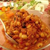 大豆とツナとオリーブのトマト煮