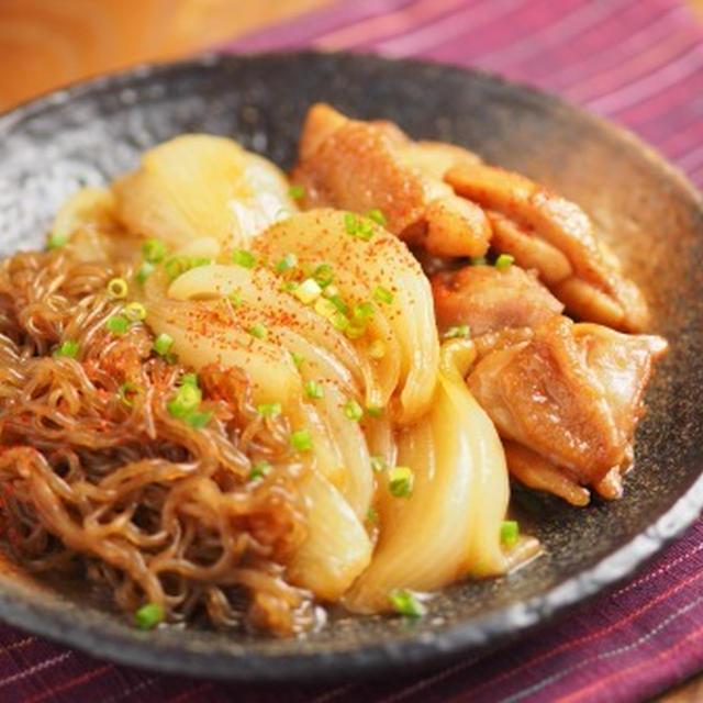 鶏ももと玉ねぎのすき焼き煮