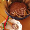 簡単手順の本格味、お洒落なガトー・オ・ショコラ☆ズボラさんでも大丈夫♪クリスマスケーキ(作り置き・持ち寄りに便利なチョコレートケーキ&オマケつき☆)