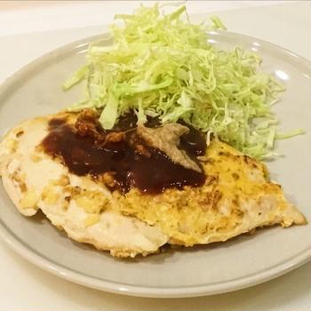 ポップコーンで作る鶏ムネ肉カツレツ
