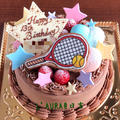 たまご抜きで!テニスがモチーフのお誕生日ケーキ☆