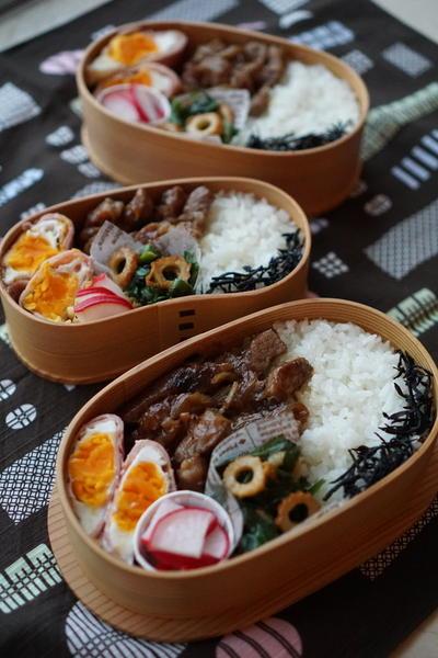 豚テキと竹輪にらオイマヨ炒め弁当