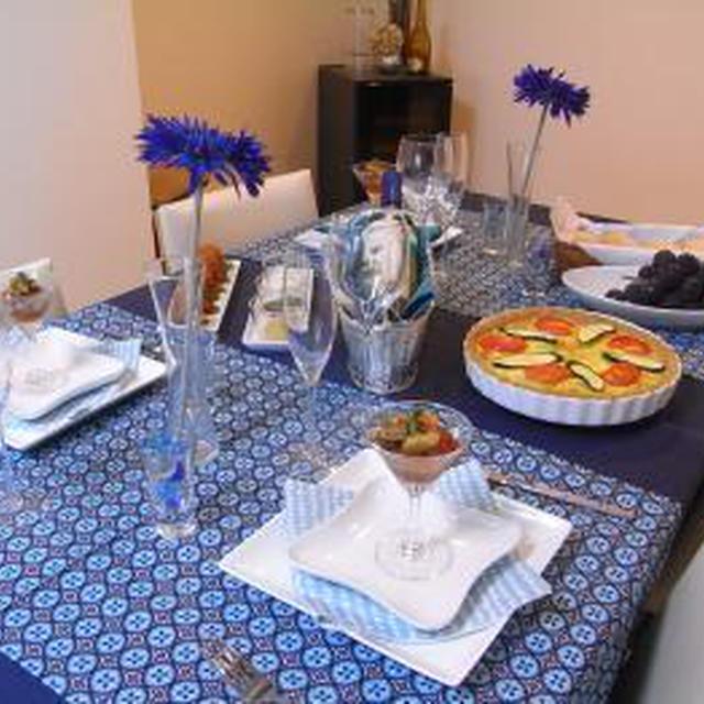 ブルーカラーの手作り夕食会☆