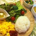 ご飯と味噌スープで洋風ブレックファースト!