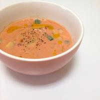 「理想のトマト」で冷製豆乳ポタージュ(*^^*)
