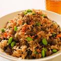 鮭と枝豆のダイエットチャーハン