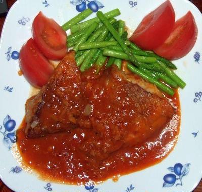 赤魚のチリソース&野菜焼き