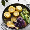 調味料不要♥だし&塩昆布♥夏野菜のさっと煮浸し【#野菜が劇的に美味しい】10分以内