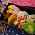 お花見弁当に*~桜ごはんのお弁当~*
