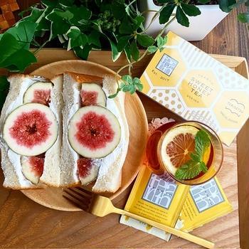 PR☆はちみつ紅茶といちじくサンドイッチ☆記録