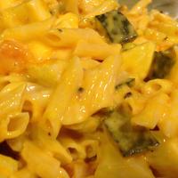 早ゆでパスタレシピその1☆「かぼちゃのカルボナーラサラダペンネ」
