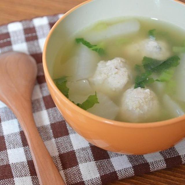 トロっと蕪の鶏団子スープ