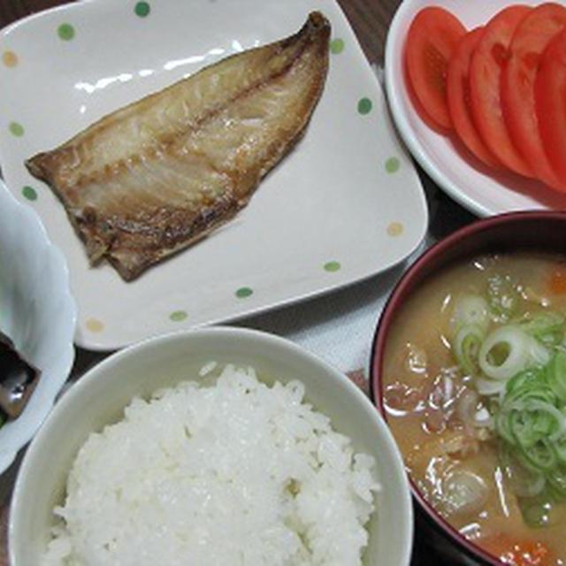 豚汁 焼き魚