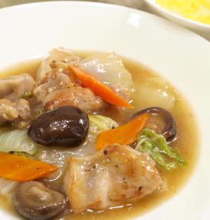【中華】白菜消費に!「鶏肉と白菜と干し椎茸の旨煮」