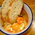 スペイン料理にチャレンジしてみる 「エビとニンニクのスープ」