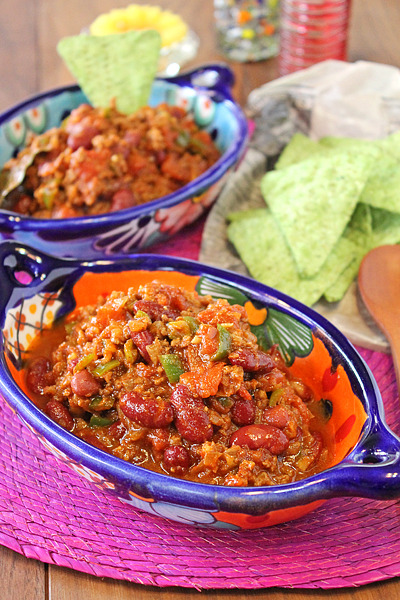 お豆と挽肉のスパイス煮込みチリコンカン☆