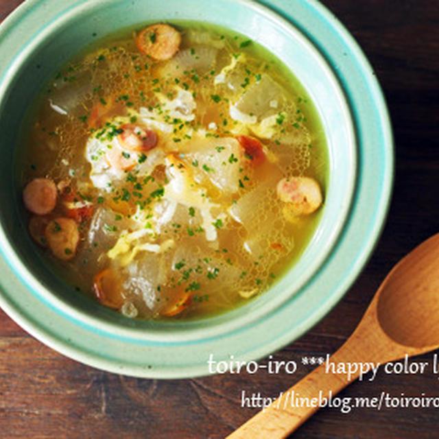 トロットロ★チーズ入り冬瓜のスープ