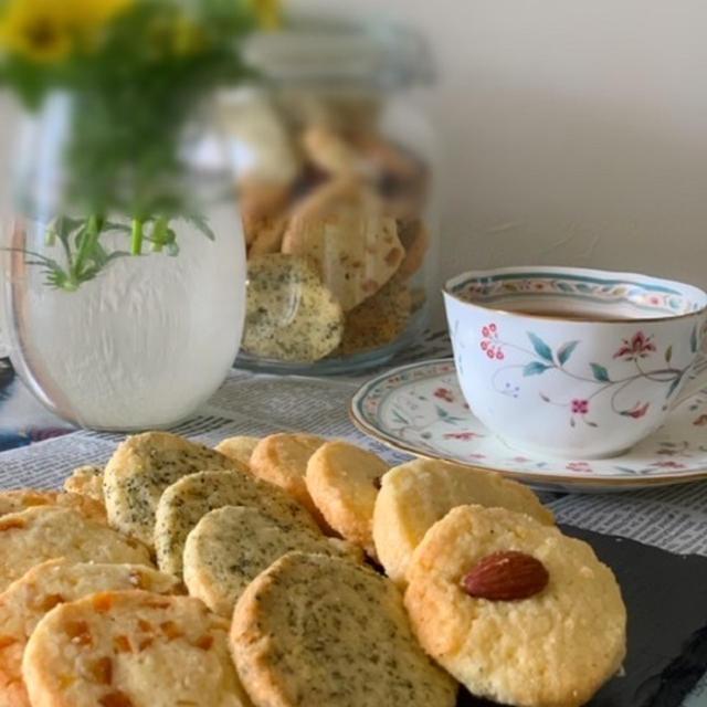 クッキーが食べたくて紅茶やオレンジピールのアイスボックスクッキー焼きました !!