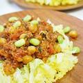 【レッドペパー&チリパウダー】お豆と紫蘇香るのタコライス風