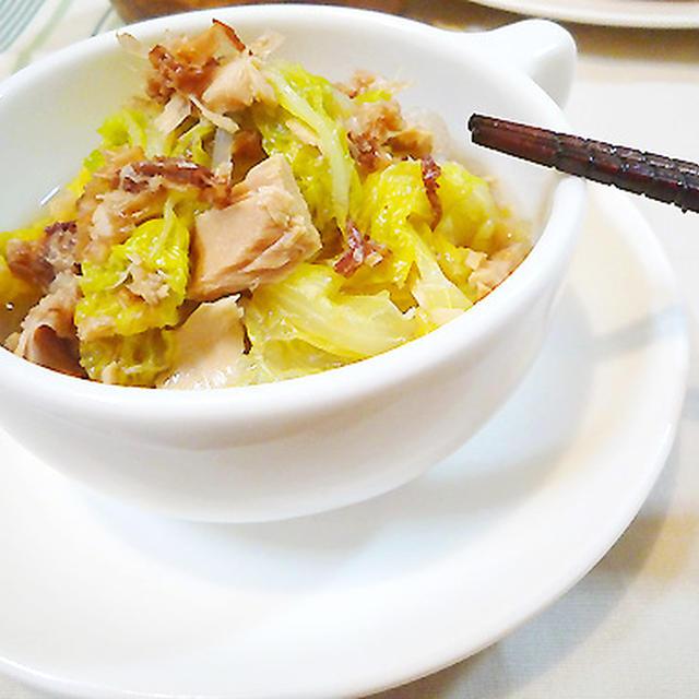 白菜とツナのささっとおかか煮♪