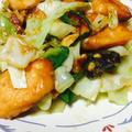 秋鮭とキャベツの味噌炒め